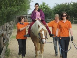 Pferd Kimmi während der Hippotherapie